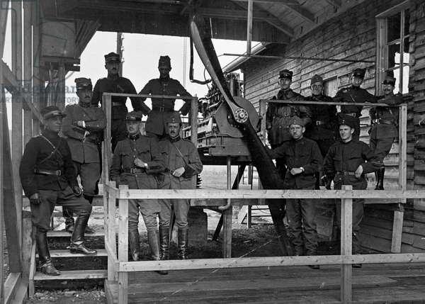 Switzerland World War, 1915 (b/w photo)