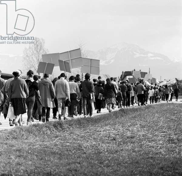 Switzerland Easter March, 1963 (b/w photo)