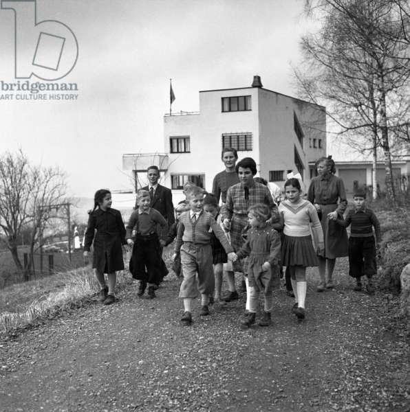 Switzerland Augst Orphanage (b/w photo)