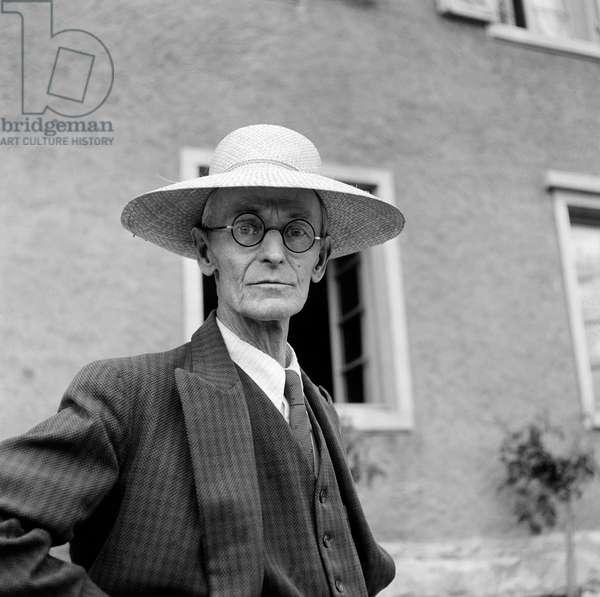 Switzerland Hermann Hesse (b/w photo)