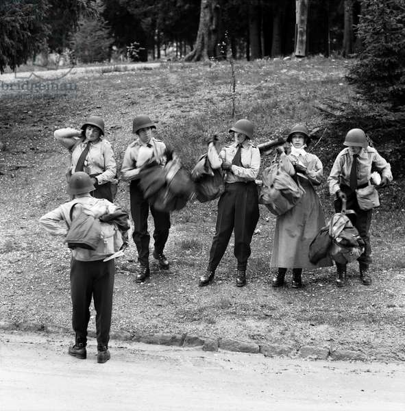 Swiss Red Cross, 1963 (b/w photo)