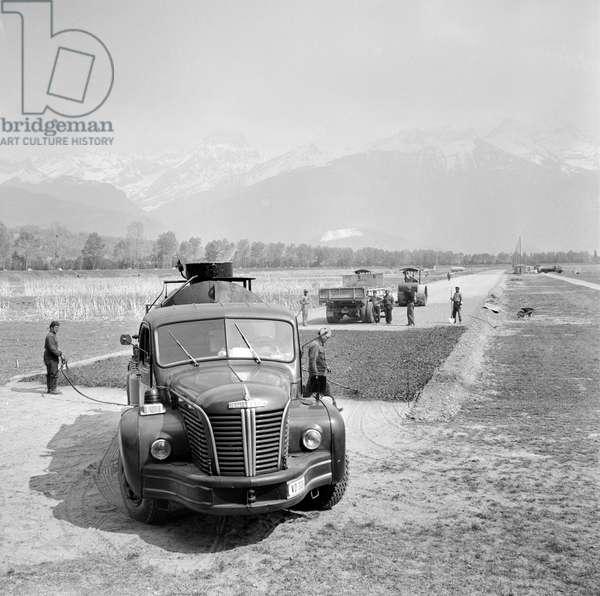 Switzerland Refinery Collombey, 1960 (b/w photo)