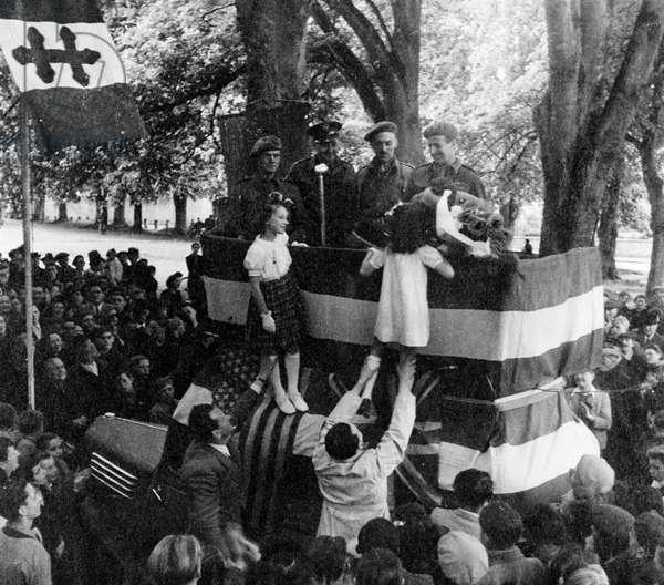World War II Italy Liberation of Rome, 1944 (b/w photo)