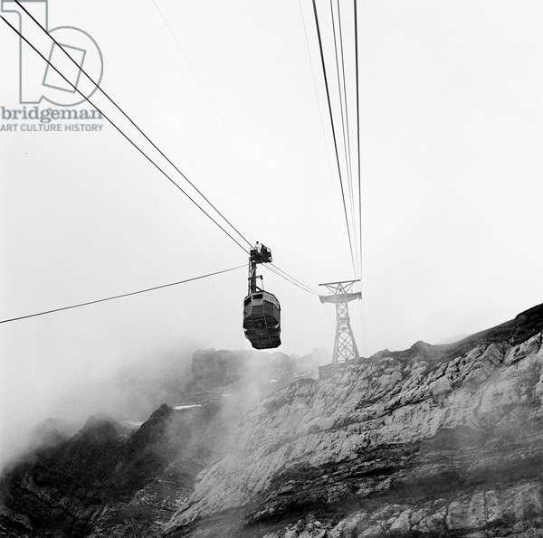 Switzerland Saentis Suspended Railway, 1940 (b/w photo)