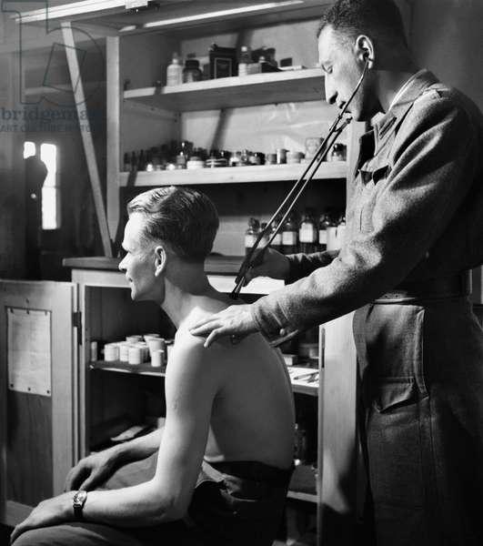 Switzerland Second World War Refugees Camp, 1945 (b/w photo)