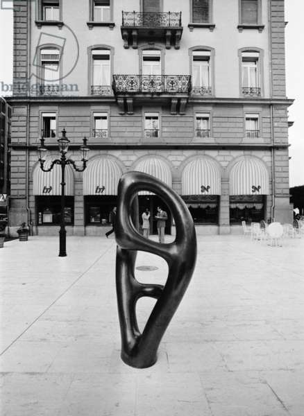 Switzerland Art Hans Arp, 1979 (b/w photo)