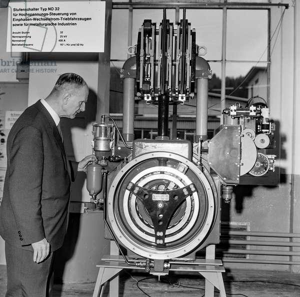 Switzerland Machinery Industry Bbc, 1965 (b/w photo)