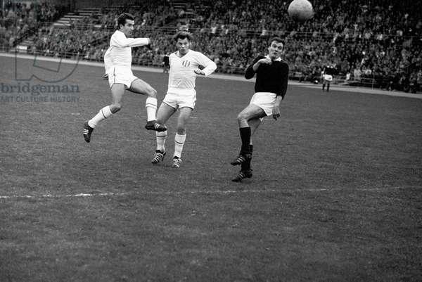 Switzerland Soccer Fcz Servette, 1962 (b/w photo)