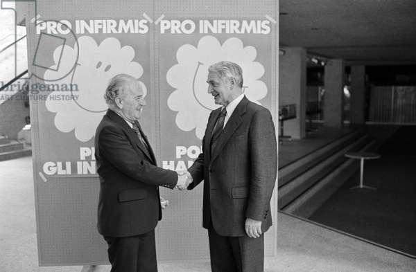 Switzerland Pro Infirmis Card Campaign, 1977 (b/w photo)