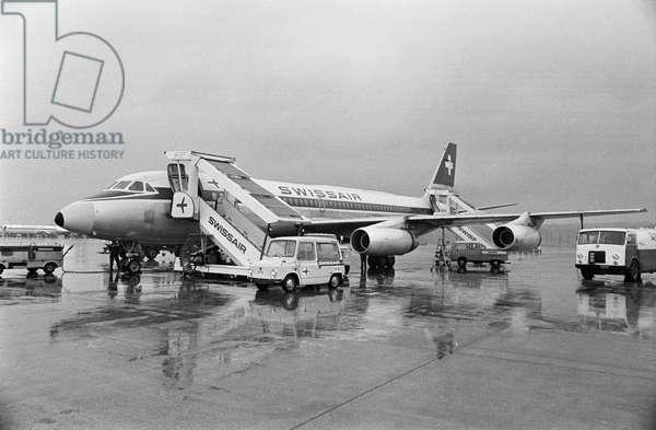 Switzerland Swissair Coronado, 1975 (b/w photo)