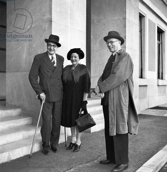 Switzerland League Of Nations Last Meeting, 1946 (b/w photo)