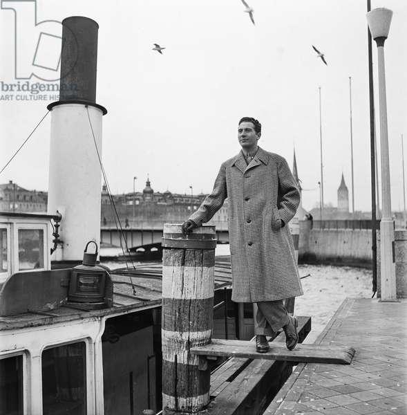 Switzerland Music Charles Trenet, 1942 (b/w photo)