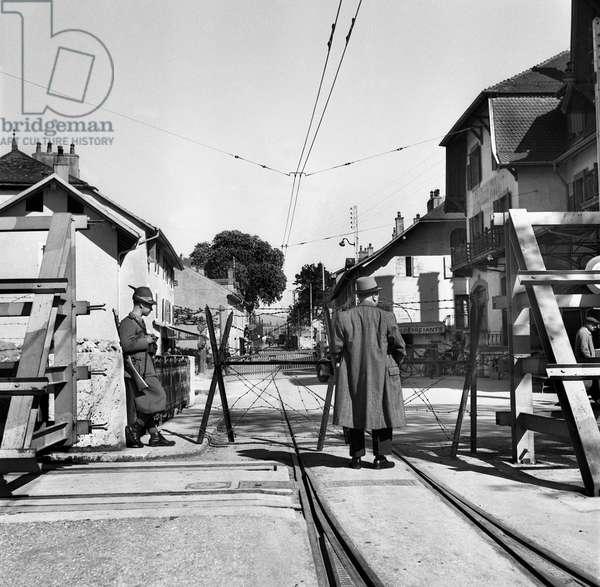 Switzerland World War II Limit Geneva, 1943 (b/w photo)