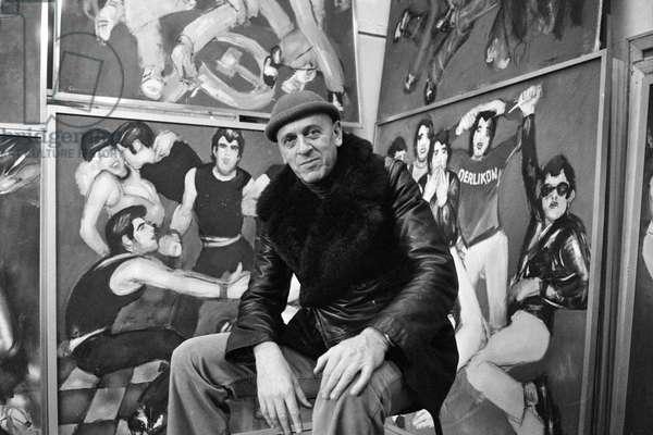 Switzerland Culture Mario Comensoli, 1979 (b/w photo)