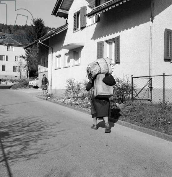Switzerland Work Peddler (b/w photo)