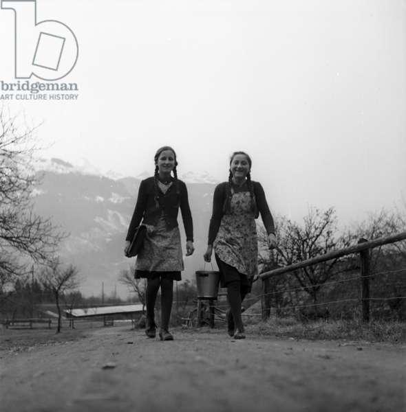 Switzerland World War II Rationing, 1942 (b/w photo)