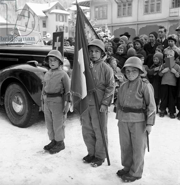 Switzerland Henri Guisan Engelberg, 1943 (b/w photo)