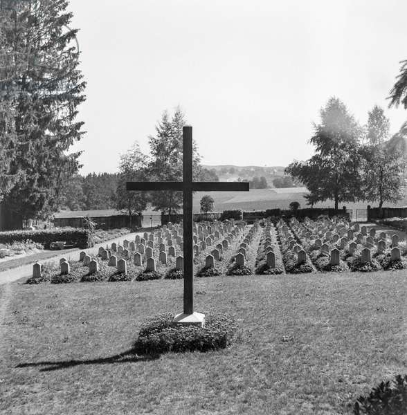 Switzerland For Care Center Kühlewil Cemetery, 1949 (b/w photo)