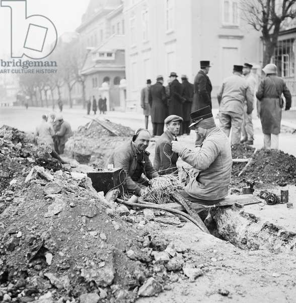 Switzerland World War Ii Basel Bombing, 1940 (b/w photo)