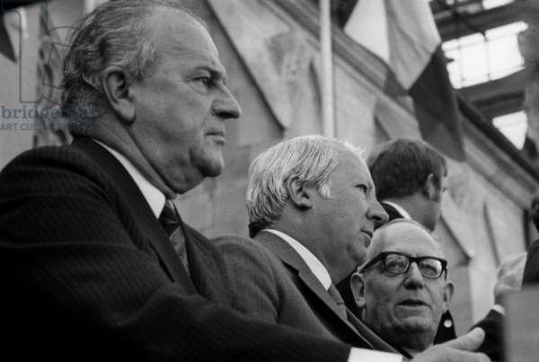 Switzerland Churchill Speech Celebration, 1971 (b/w photo)