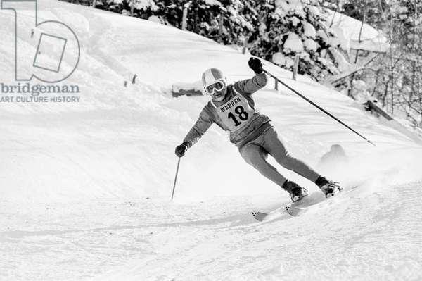 Switzerland Lauberhorn Race, 1968 (b/w photo)
