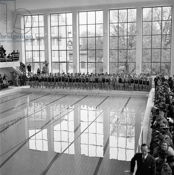 Switzerland Zurich City Indoor, 1941 (b/w photo)