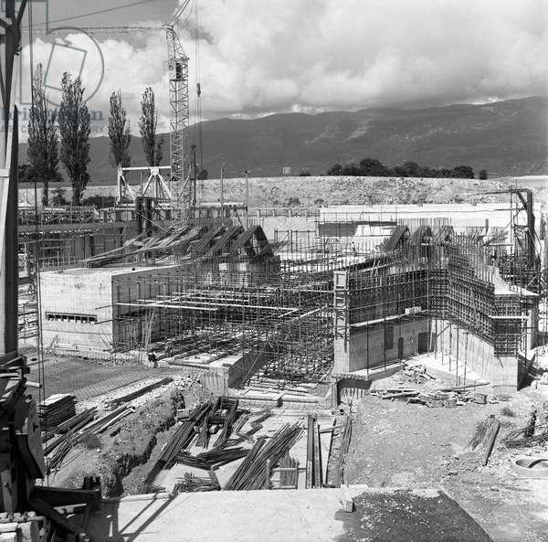 Switzerland Cern Site, 1956 (b/w photo)