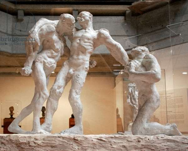 The age of maturity, first version of the sculpture by Camille Claudel
