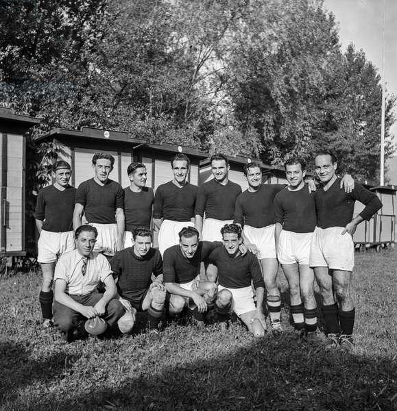 Switzerland Soccer Ac Bellinzona, 1938 (b/w photo)