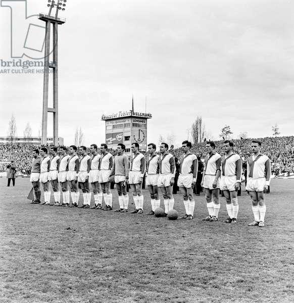 Switzerland Soccer Cup Final, 1963 GC Basel (b/w photo)