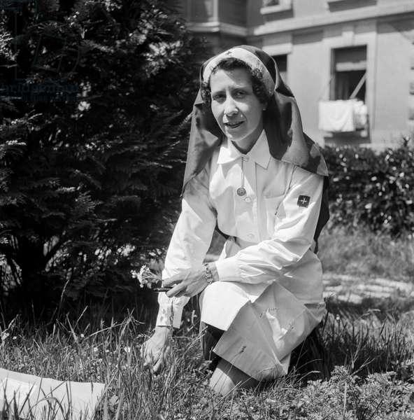 Swiss Red Cross, 1945 (b/w photo)