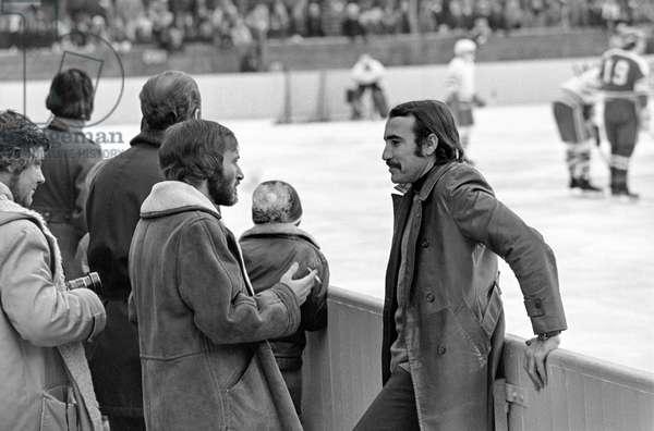Spengler Cup, 1972 Torpedo Gorky Switzerland (b/w photo)