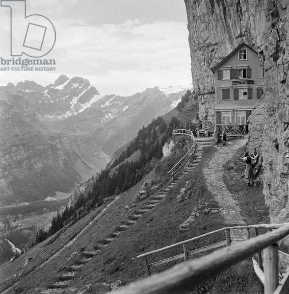 Switzerland Restaurant Liming (b/w photo)