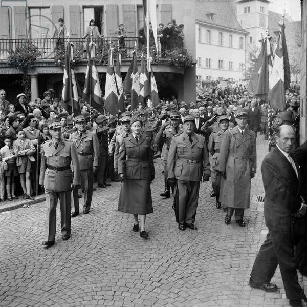 Switzerland Henri Guisan Celebration, 1954 (b/w photo)