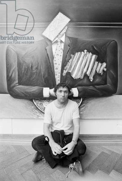 Switzerland Art Alex Sadkowsky, 1980 (b/w photo)