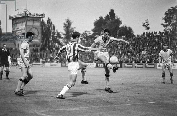 Football Alpencup YB Juventus (b/w photo)