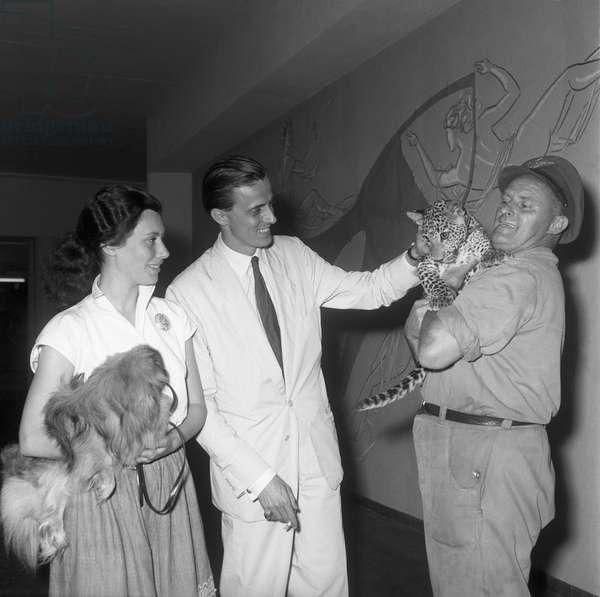 Switzerland Hans Heinrich Thyssen-Bornsmisza, 1954 (b/w photo)
