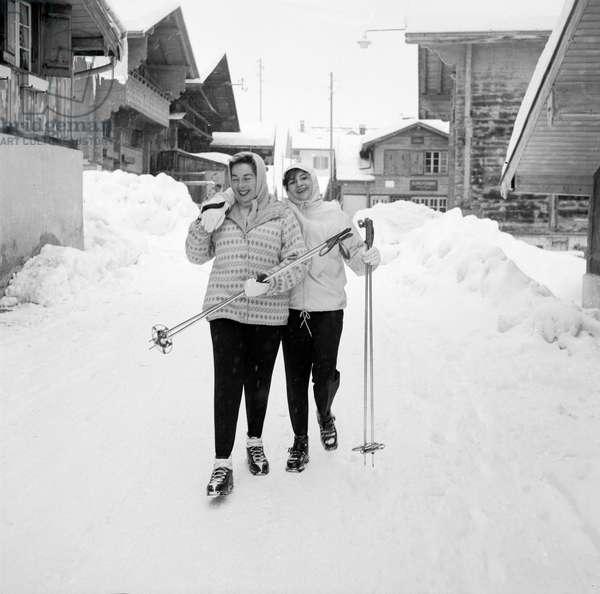 Switzerland Agustina Castro, 1959 (b/w photo)