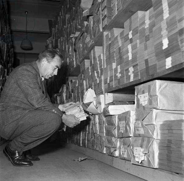 Switzerland World War II Rationing, 1944 (b/w photo)