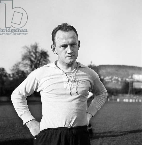Football Switzerland Xam Abegglen (b/w photo)