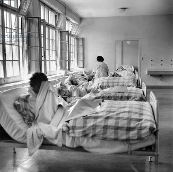 Switzerland Psychiatry Waldau (b/w photo)