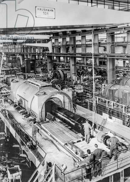 Switzerland Mechanical Engineering Bbc, 1966 (b/w photo)