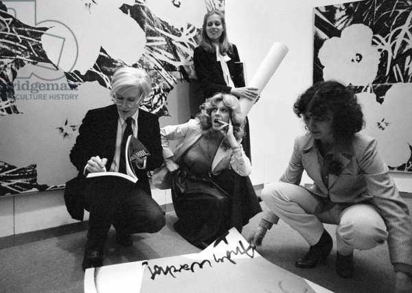 Switzerland Andy Warhol, 1978 (b/w photo)