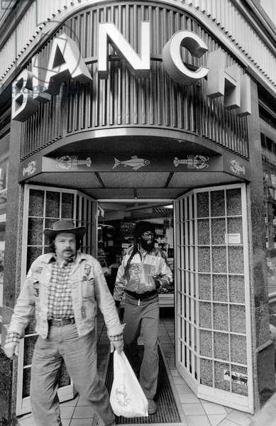 Switzerland Zurich Bob Marley, 1980 (b/w photo)