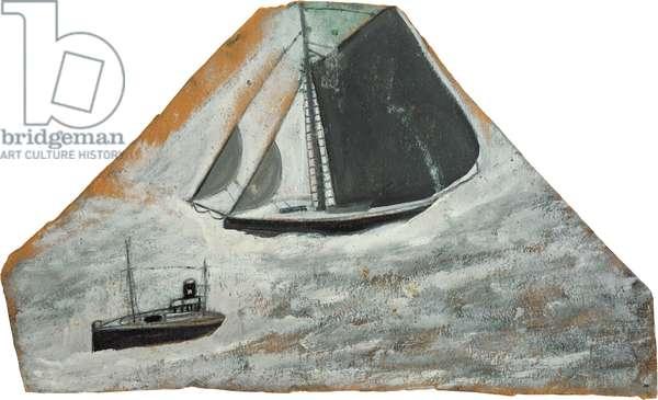 Grey sailing ship and small boat (verso of AW 15), 1935-37 (circa) (painting)