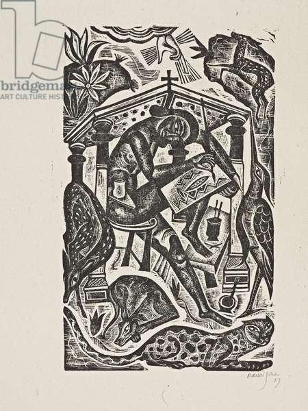 The Artist, 1927 (print)