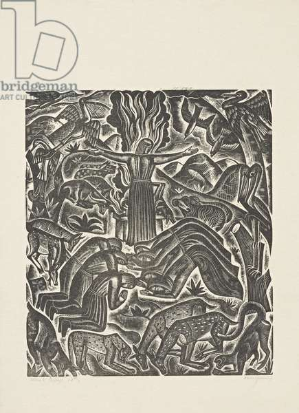 The Deluge (10): The Oblation of Noah, 1927 (print)