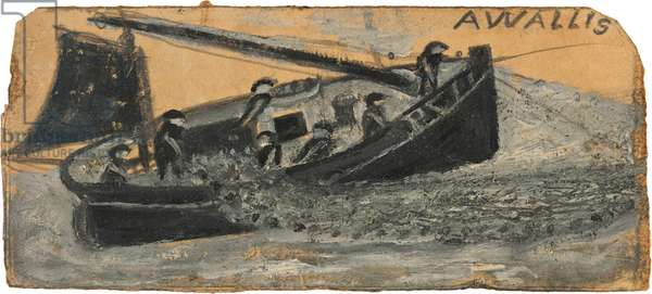 Boat with fishermen letting out nets - PZ11, the Flying Scud, n.d. (painting)