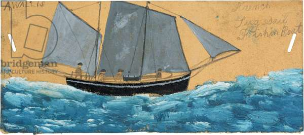 French lugsail fishing boat, n.d. (painting)