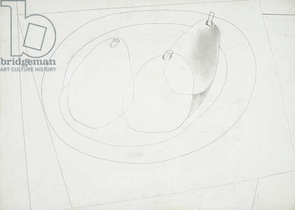 1948 (three pears), 1948 (drawing)